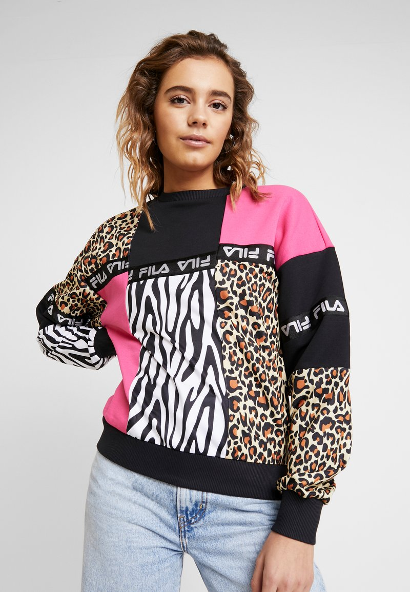 Fila - PAPINA CREW  - Sweatshirt - black/pink/yarrow