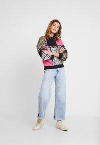 Fila - PAPINA CREW  - Sweatshirt - black/pink/yarrow - 1