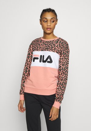 LEAH - Sweatshirt - leo/lobster/bisque allover/bright white