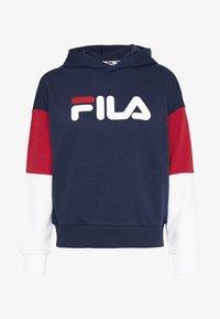 Fila - BARRET - Hoodie - black iris/bright white/true red - 3