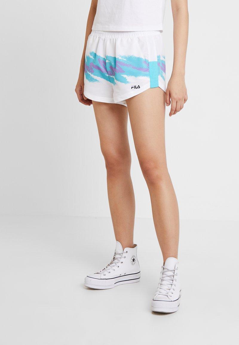 Fila - BRIANNA  - Shorts - bright white/blue curacao