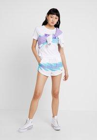 Fila - BRIANNA  - Shorts - bright white/blue curacao - 1