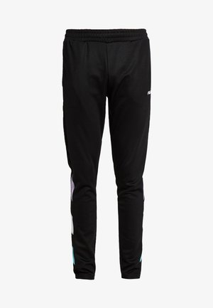 KAMIL TRACK PANTS - Träningsbyxor - black/violet tulip/bright white/blue curacao