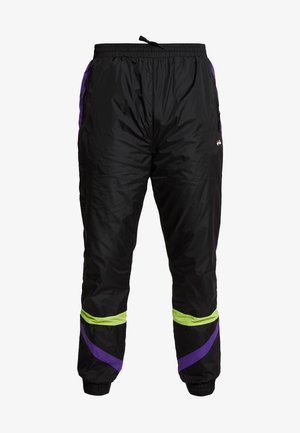 REIGN TRACK PANTS - Spodnie treningowe - black/tillandsia purple/acid lime