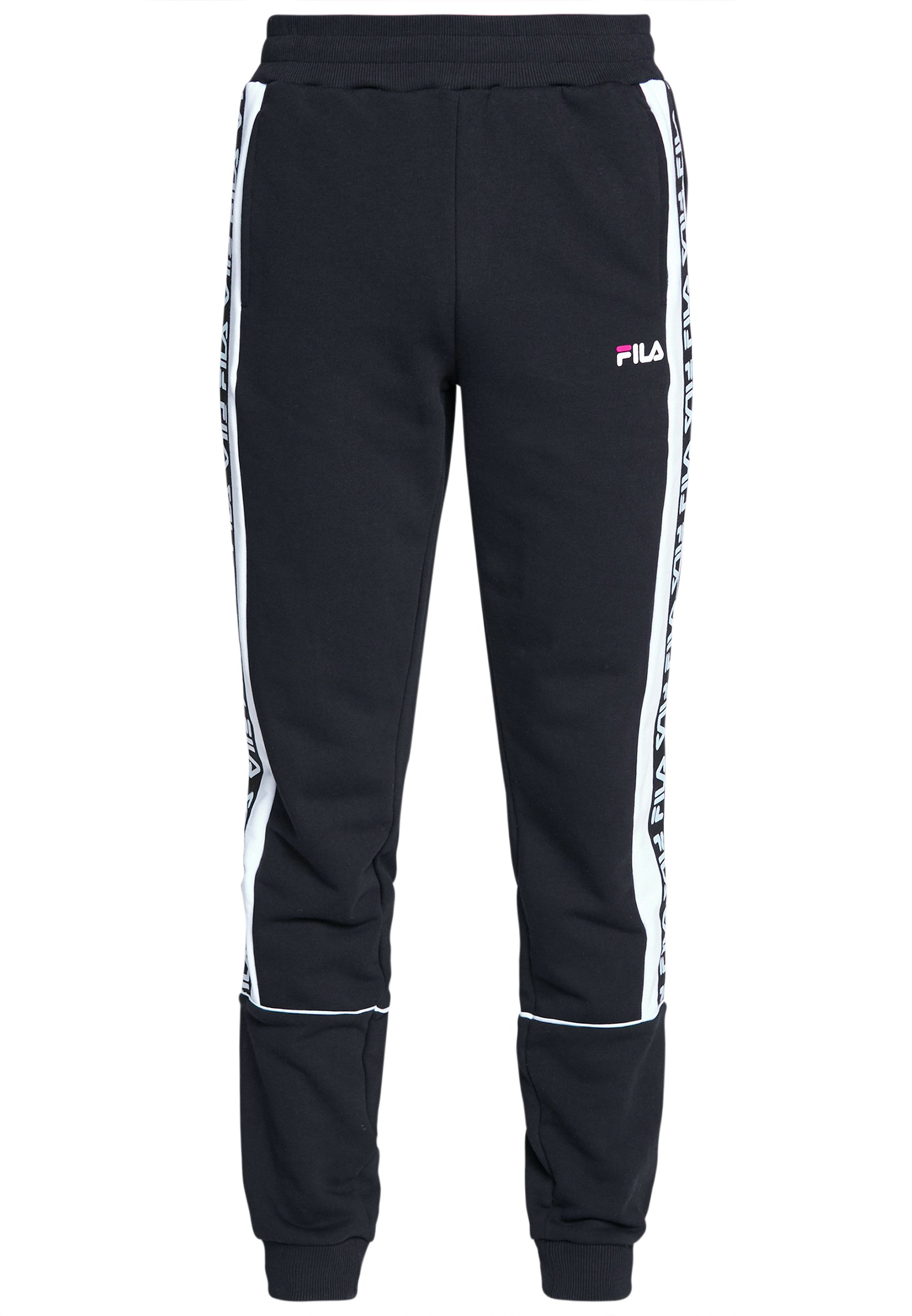 Fila TEVIN - Spodnie treningowe - black/bright white