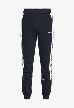 TEVIN - Pantalon de survêtement - black/bright white