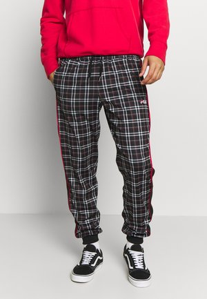 TARUN TRACKPANT - Pantalon de survêtement - black/tartan