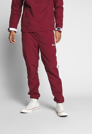 MABON TRACKPANT - Tracksuit bottoms - cabernet/bright white
