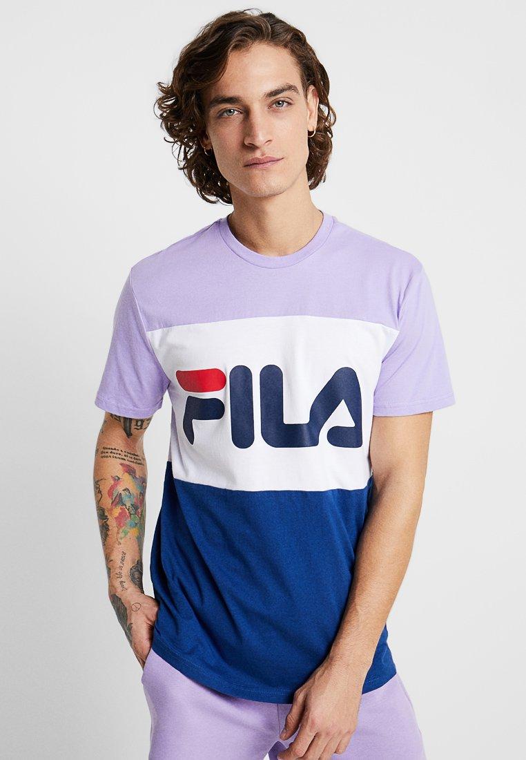 Fila - DAY TEE - T-Shirt print - violet tulip/bright white/navy peony