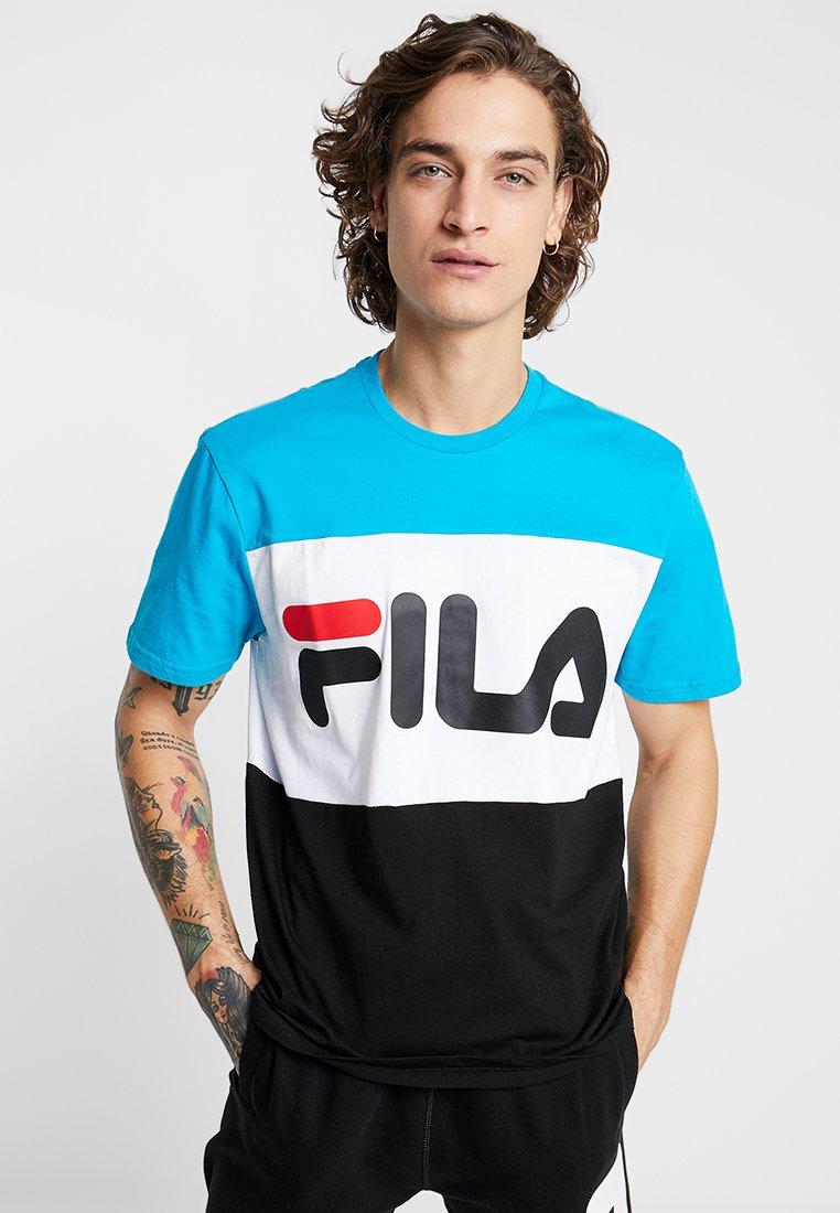 Fila - DAY TEE - T-Shirt print - carribean sea/bright white/black