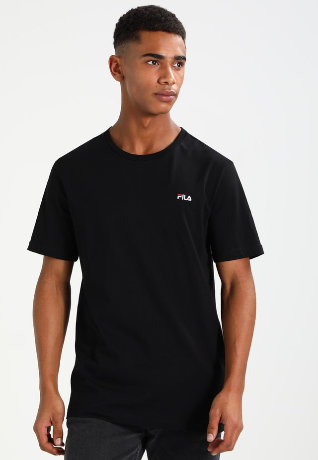UNWIND - Basic T-shirt - black