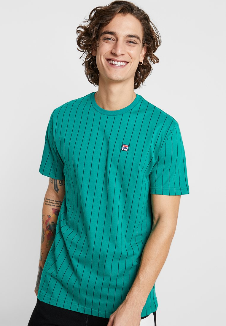 Fila - ADIT TEE - Camiseta estampada - shady glade/navy
