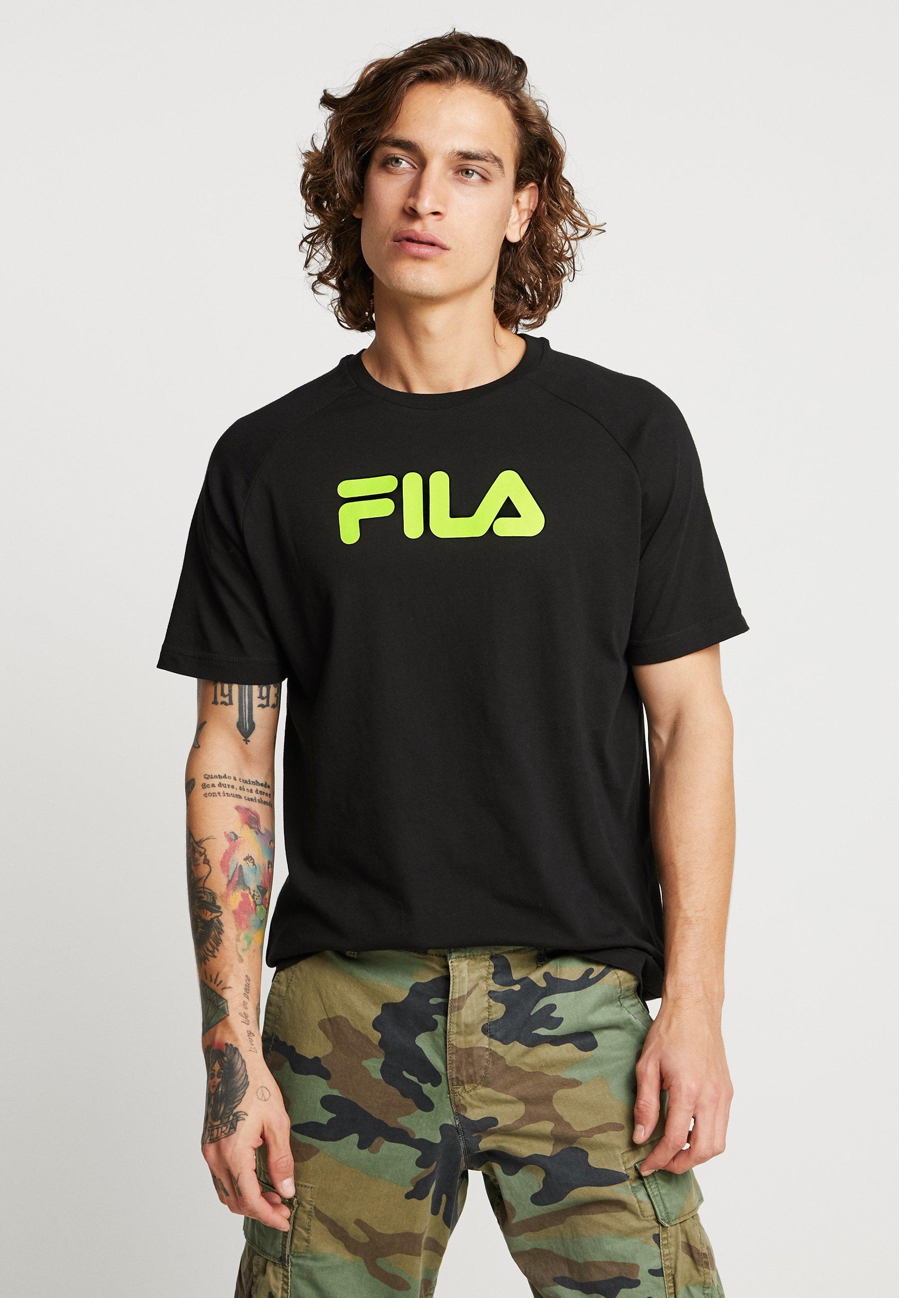 Fila Gary Raglan Imprimé TeeT Black shirt Yf7ymbvIg6