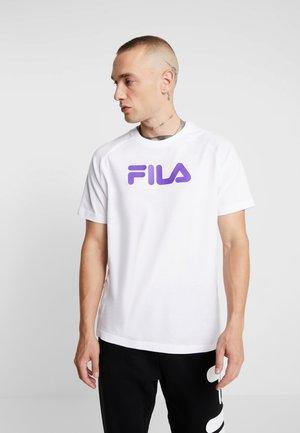 GARY RAGLAN TEE - Print T-shirt - bright white