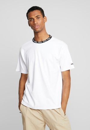 TAMOTSU TEE DROPPED SHOULDER - T-shirt imprimé - bright white