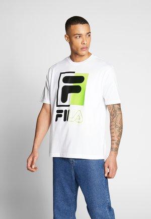 SAKU - Camiseta estampada - bright white