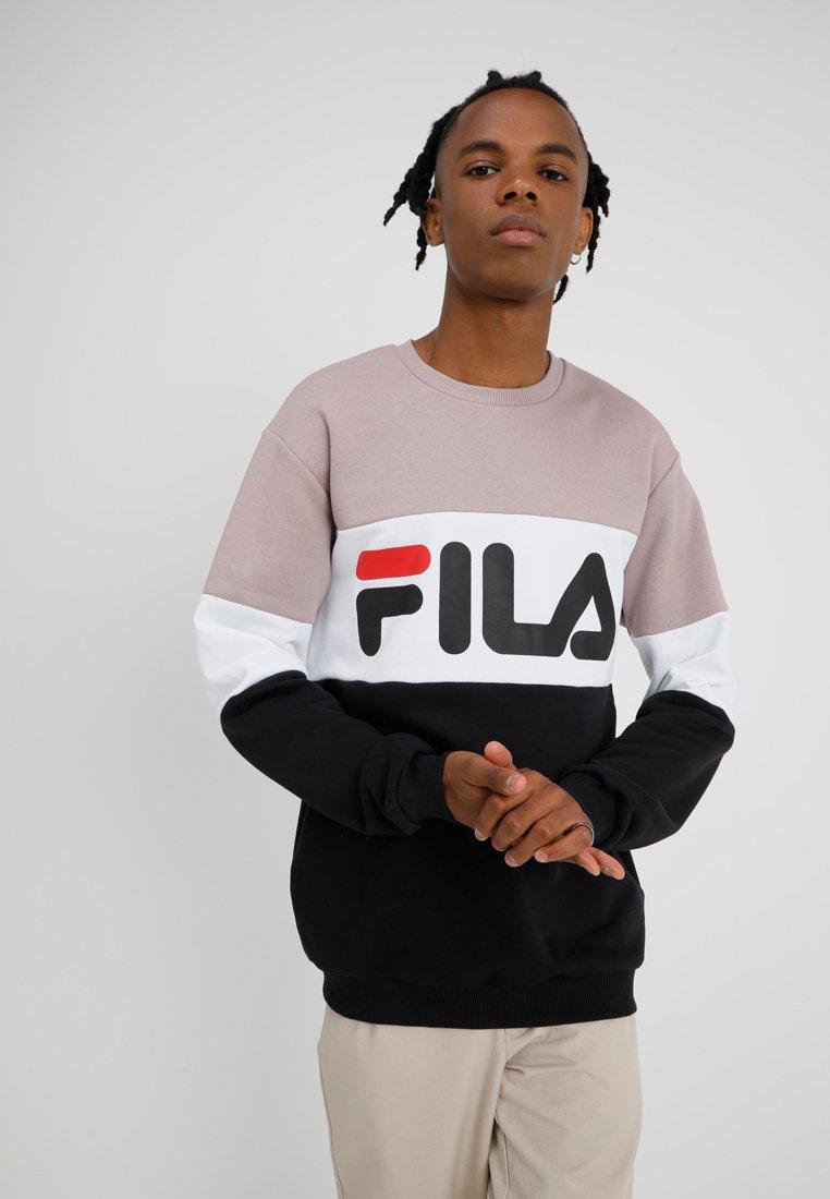 Fila - STRAIGHT BLOCKED CREW - Sweatshirt - black bright/white/purple