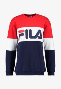 Fila - STRAIGHT BLOCKED CREW - Sweatshirt - blue - 3