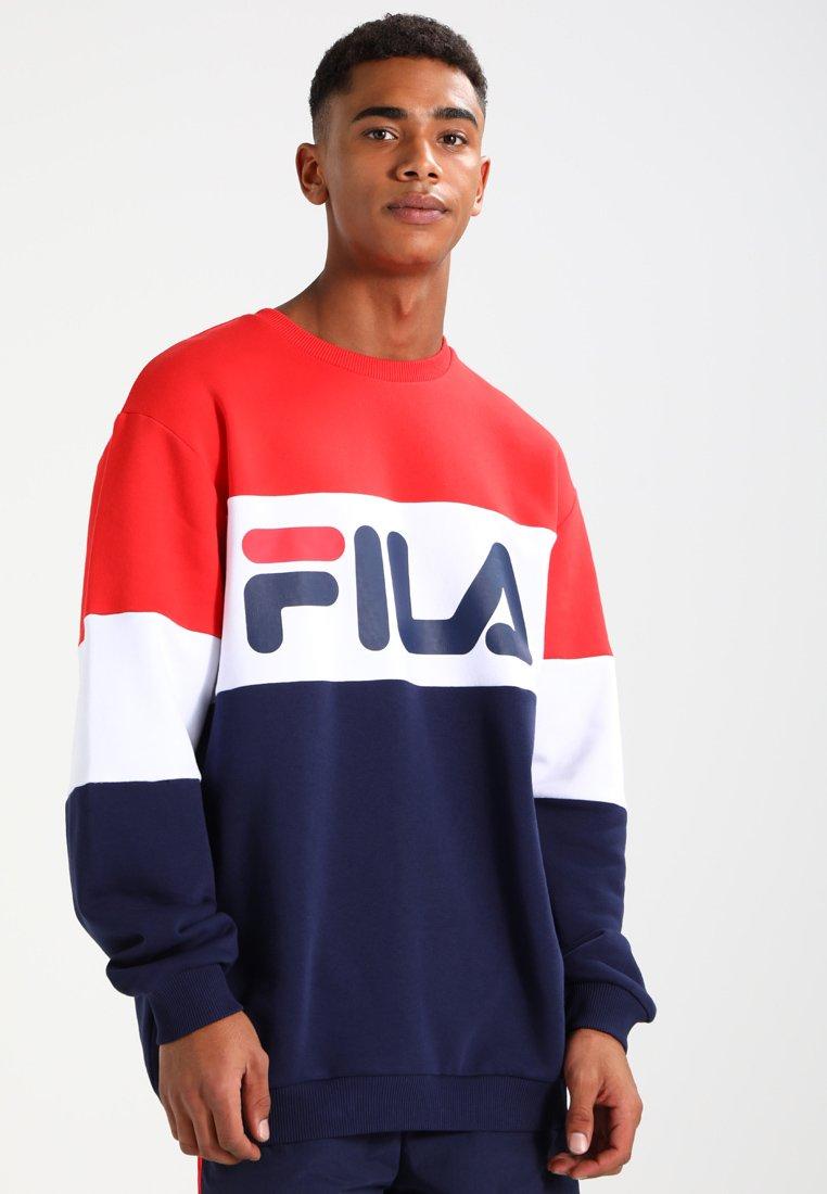 Fila - STRAIGHT BLOCKED CREW - Sweatshirt - blue