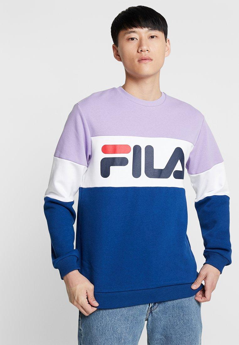 Fila - STRAIGHT BLOCKED CREW - Sweatshirts - violet tulip/bright white/navy peony