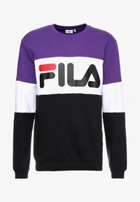 Fila - STRAIGHT BLOCKED CREW - Sweatshirt - black/purple/white - 3