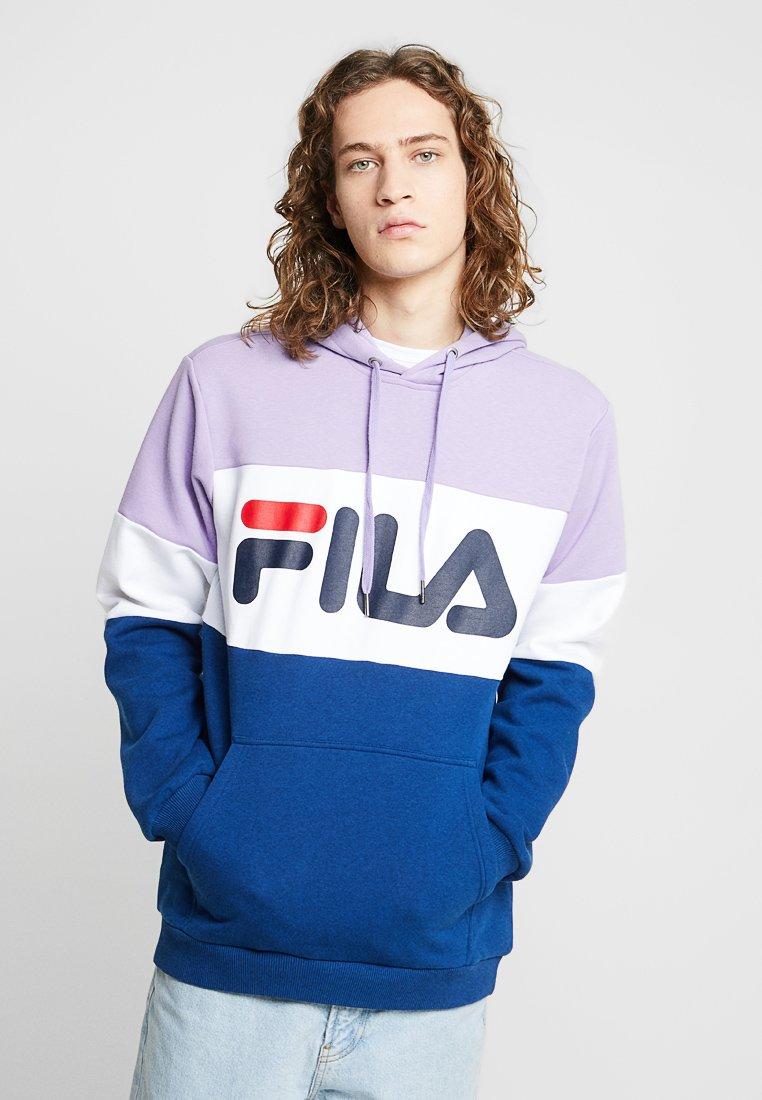 Fila - NIGHT BLOCKED HOODIE - Hoodie - violet tulip/bright white/navy peony