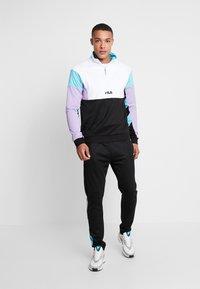 Fila - KEITH HALF ZIP - Sweatshirt - black/violet tulip/bright white/blue curacao - 1