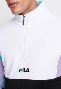 Fila - KEITH HALF ZIP - Sweatshirt - black/violet tulip/bright white/blue curacao - 4
