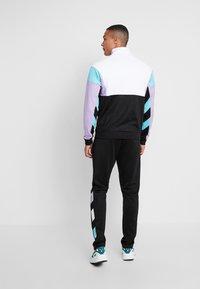 Fila - KEITH HALF ZIP - Sweatshirt - black/violet tulip/bright white/blue curacao - 2
