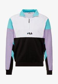 Fila - KEITH HALF ZIP - Sweatshirt - black/violet tulip/bright white/blue curacao - 3
