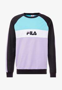 Fila - KAIL CREW - Sweatshirt - black/violet tulip/bright white/blue curacao - 4