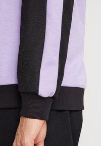 Fila - KAIL CREW - Sweatshirt - black/violet tulip/bright white/blue curacao - 3
