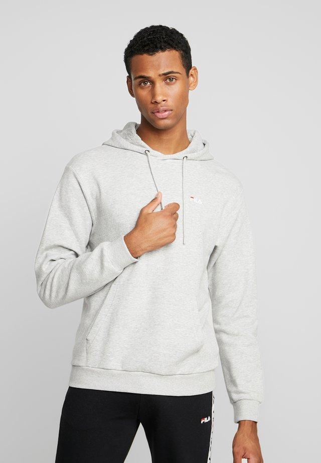 EDISON HOODY - Bluza z kapturem - light grey melange
