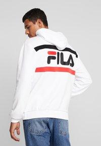 Fila - RADOMIR HOODY - Hoodie - bright white/true red/black - 2