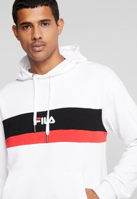 Fila - RADOMIR HOODY - Hoodie - bright white/true red/black - 4