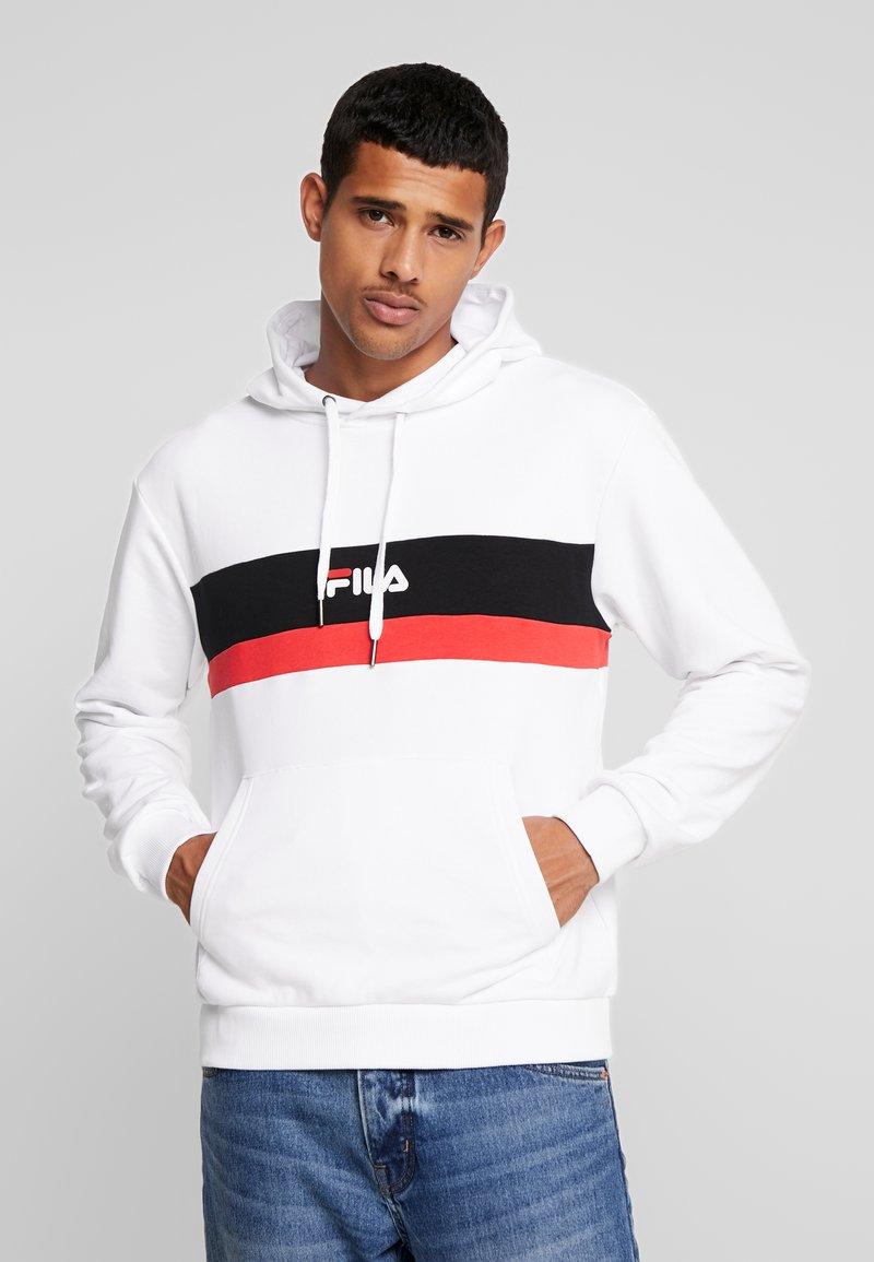 Fila - RADOMIR HOODY - Hoodie - bright white/true red/black