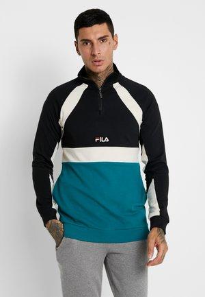 OLIGERT HALF ZIP - Sweatshirt - everglade/black/whitecap gray