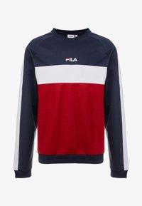 Fila - PAAVO CREW - Sweatshirt - black iris/rhubarb/bright white - 3
