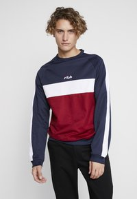 Fila - PAAVO CREW - Sweatshirt - black iris/rhubarb/bright white - 0