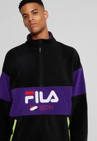 Fila - REIJO HALF ZIP - Fleece trui - black/tillandsia purple - 4