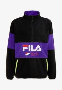 Fila - REIJO HALF ZIP - Fleece trui - black/tillandsia purple - 3