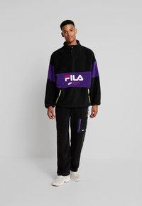 Fila - REIJO HALF ZIP - Fleece trui - black/tillandsia purple - 1