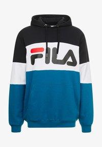 Fila - HOODIE - Luvtröja - black/maroccan blue/bright white - 3