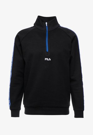 UDELL HALF ZIP SWEATER - Sweatshirt - black