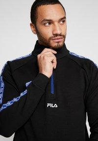 Fila - UDELL HALF ZIP SWEATER - Felpa - black - 3