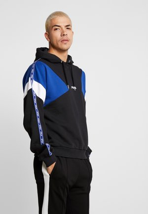 UMAR HOODY - Hoodie - black/sodalite blue/bright white