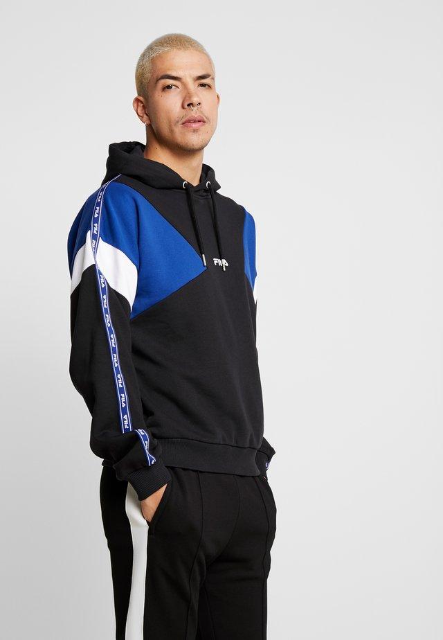 UMAR HOODY - Jersey con capucha - black/sodalite blue/bright white