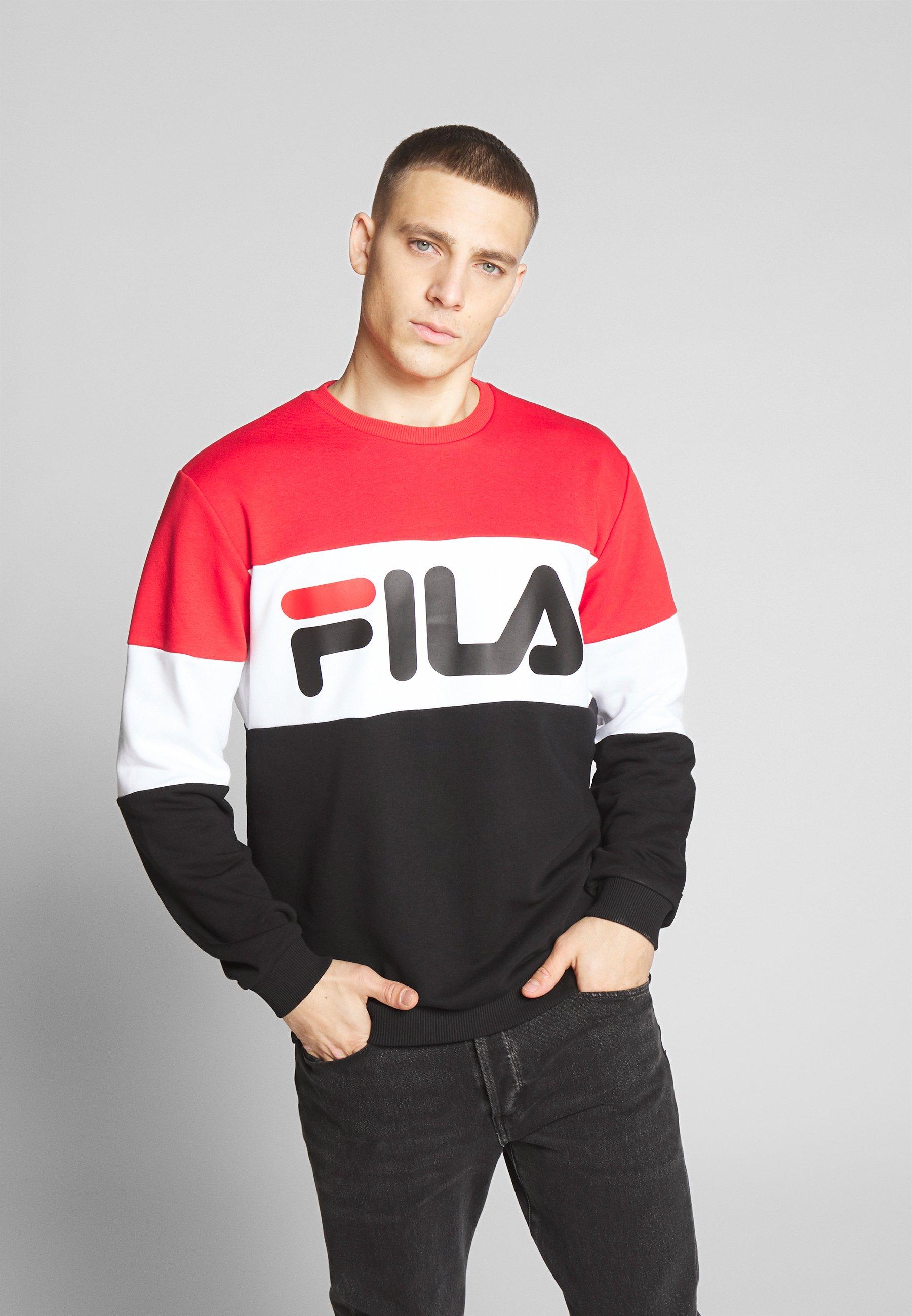 Fila STRAIGHT - Bluza - true red/black/bright white