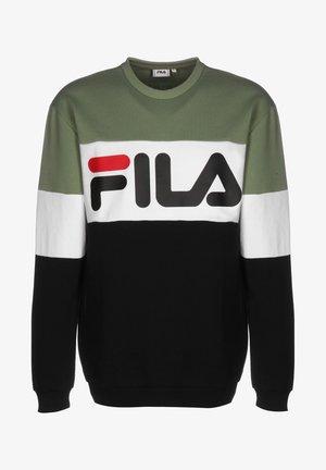 STRAIGHT - Sweatshirt - black/bright white