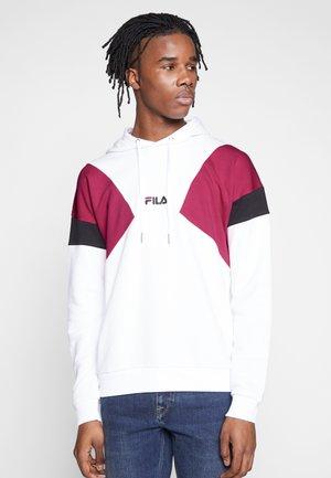 BADE - Bluza z kapturem - bright white/pink yarrow/black